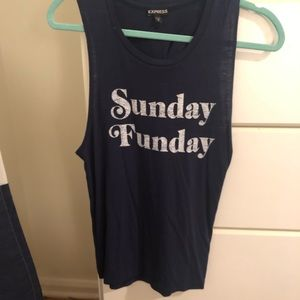 EXPRESS Sunday Funday Graphic Tank